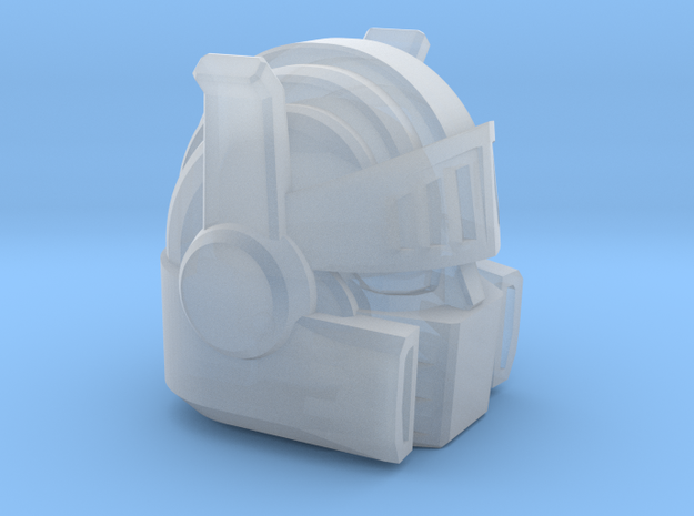 Chic-Capitan Head in Smooth Fine Detail Plastic