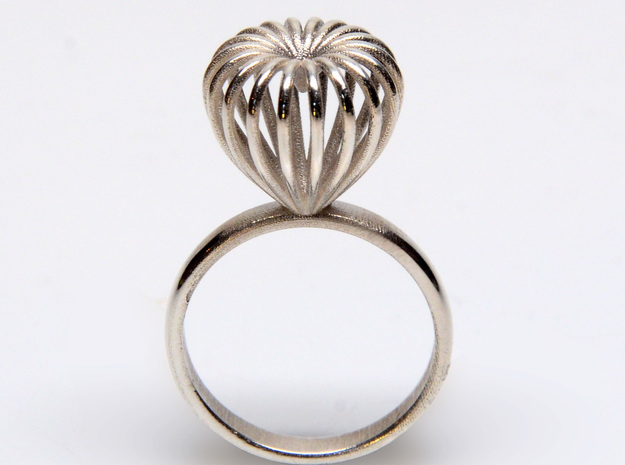 Infinite Love Ring Size 8 3d printed shown in silver