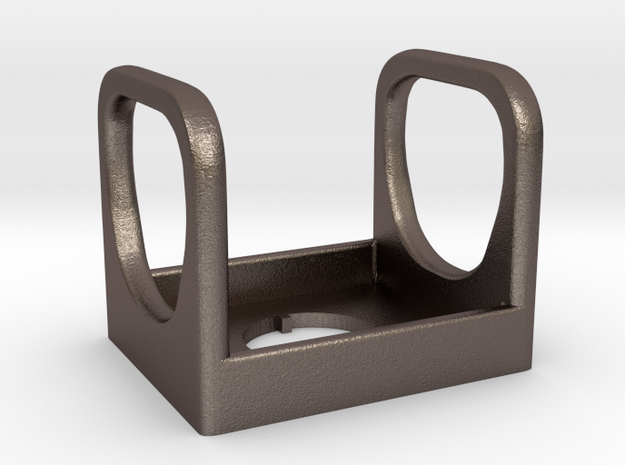 SwitchGard in Polished Bronzed Silver Steel