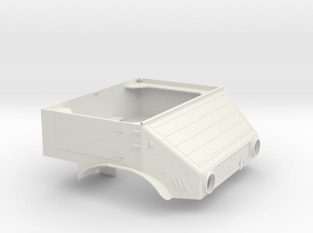 Unimog U401 Fahrerhaus 1:10 in White Strong & Flexible