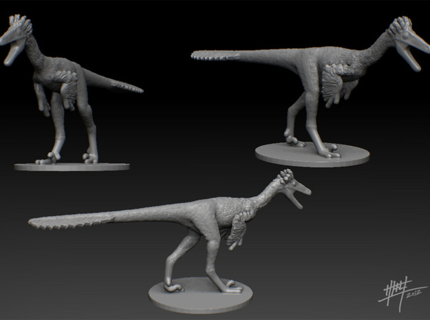 Troodon 1/72 in Smooth Fine Detail Plastic