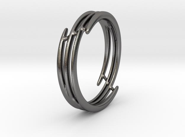 Bracelet of set : Soft Energy (medium) in Polished Nickel Steel