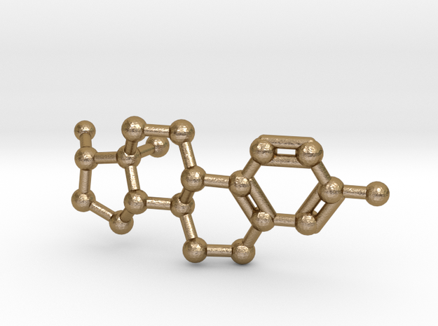Estrogen (female sex hormone) Molecule Necklace 3d printed