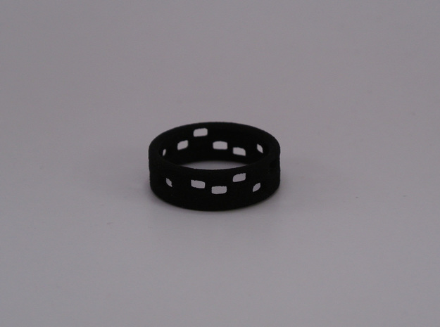 The Dots - Ring - size53 - diam16,9mm in White Natural Versatile Plastic