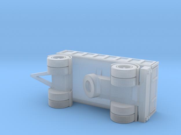 2-Axle Trailer, 2-Achs Anhänger 1/285 6mm 3d printed