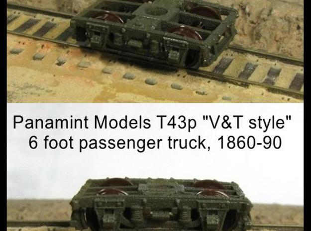 """T43p x8 N scale 1855-80 """"V&T 9 style"""" 6' pass truc in Smooth Fine Detail Plastic"""