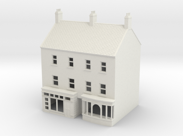 HHS-4 Honiton High Street building N Scale 1:148 in White Natural Versatile Plastic