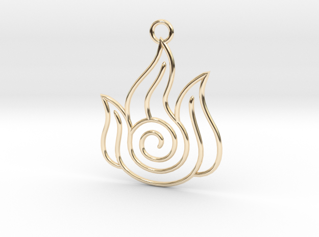 Avatar the Last Airbender: Fire in 14k Gold Plated