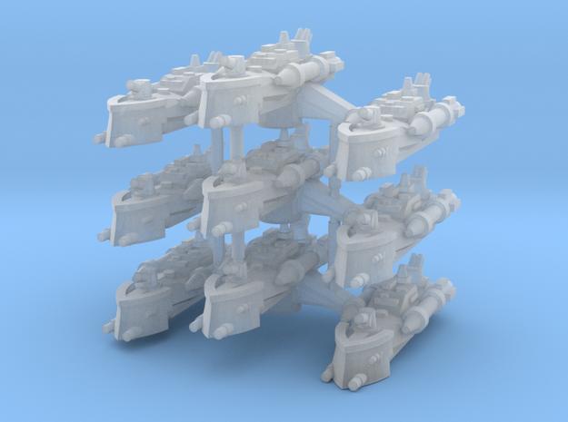 BFG Patrol Torpedo Boat Squadron (x3) 3d printed