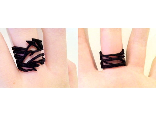 Wolf ring in Black Strong & Flexible