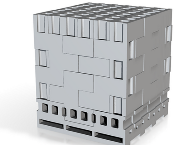 1:160 N Scale Concrete Blocks on Pallet in Smooth Fine Detail Plastic