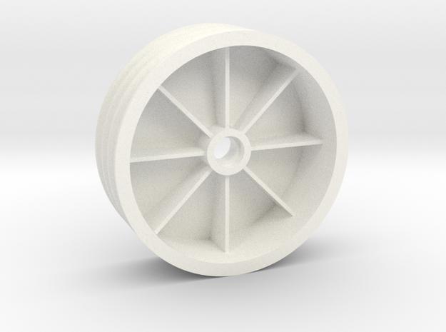 "NIX68521 Front TQ wheel 2.125"" (1pcs) in White Processed Versatile Plastic"
