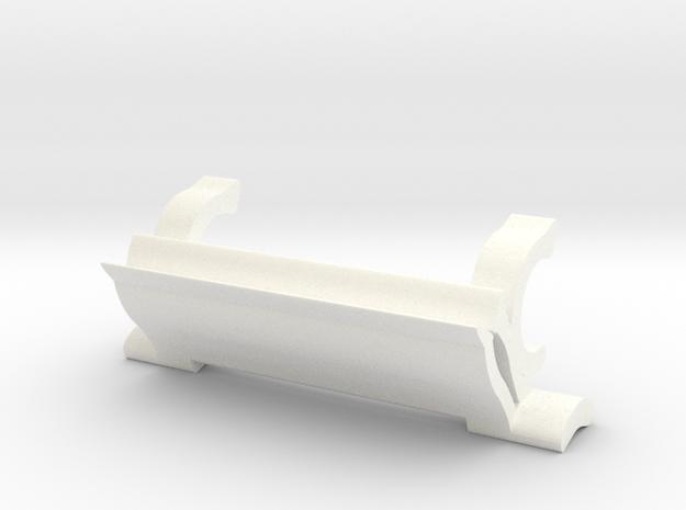 Bridge Pick Holder - Bigsby Tremolo in White Processed Versatile Plastic