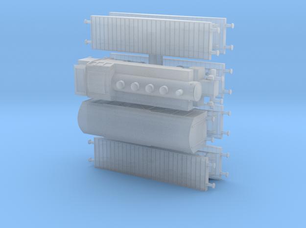 Heavy Tank Transport Train 1/285 6mm 3d printed