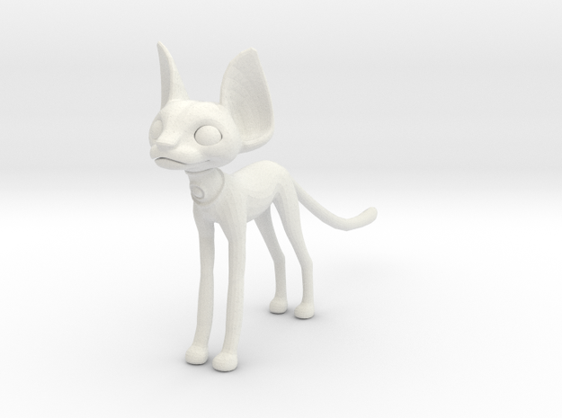 Egpytian Cat in White Natural Versatile Plastic
