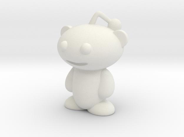 Reddit Alien Figure 3 inches in White Natural Versatile Plastic