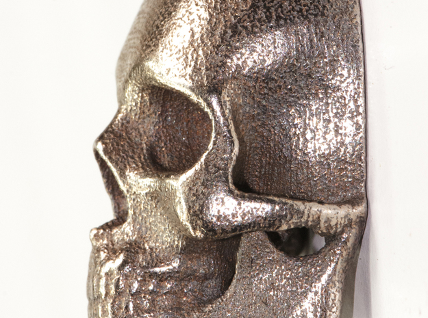 Human Skull with Ring 3.9 cm 3d printed Stainless steel print