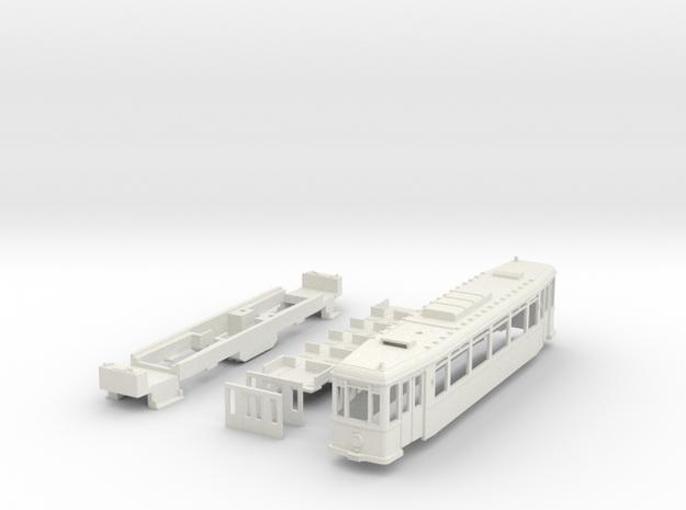MÜBAG Vierachser Straßenbahn in White Natural Versatile Plastic