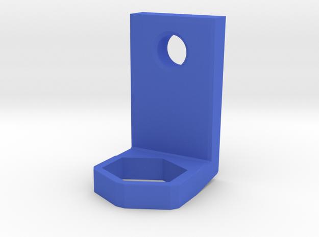 Toothbrush Holder in Blue Processed Versatile Plastic