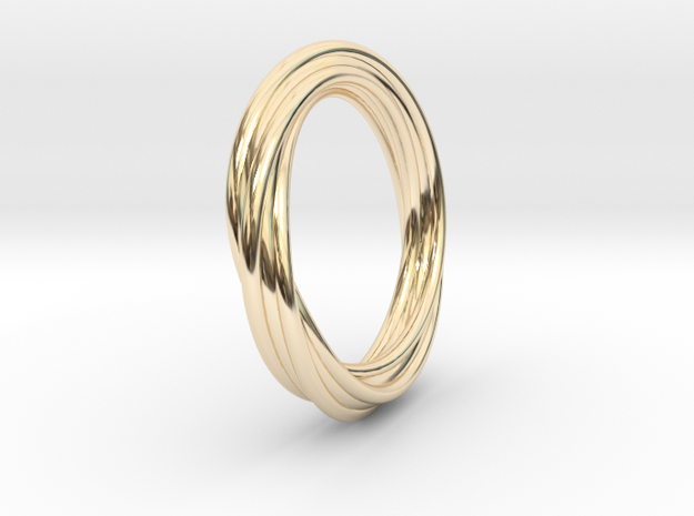 Twisted ring in 14k Gold Plated