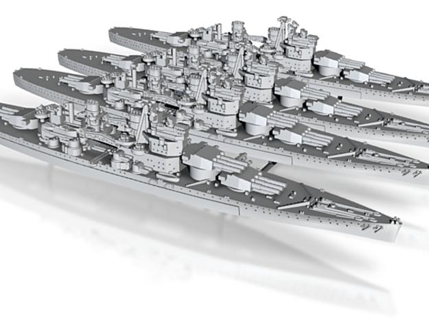 1/2400 UK Lion class battleship (1939) x4 3d printed