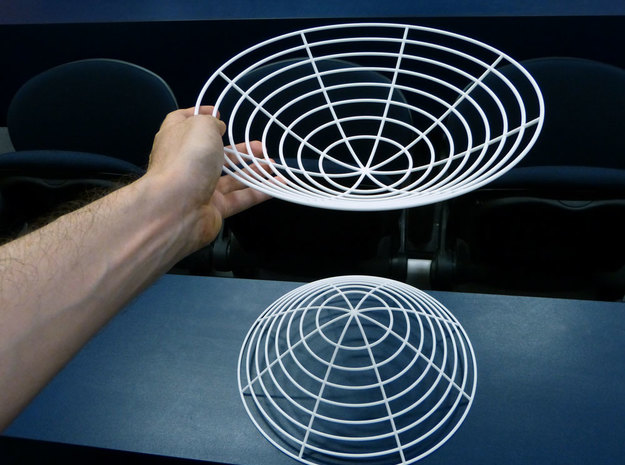 Hyperboloid of two sheets 3d printed