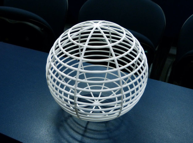 Sphere in White Natural Versatile Plastic