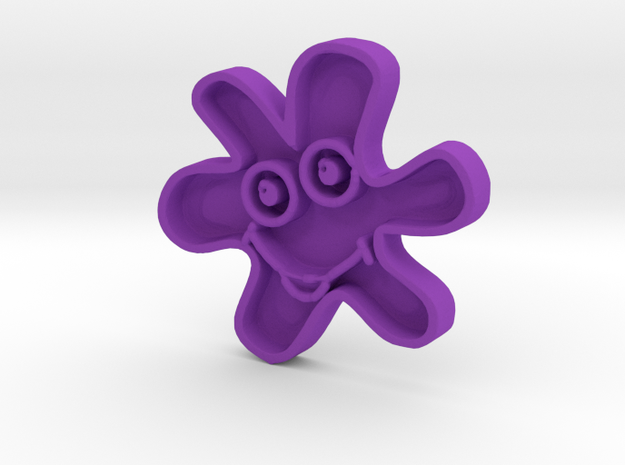 Smiling star in Purple Processed Versatile Plastic
