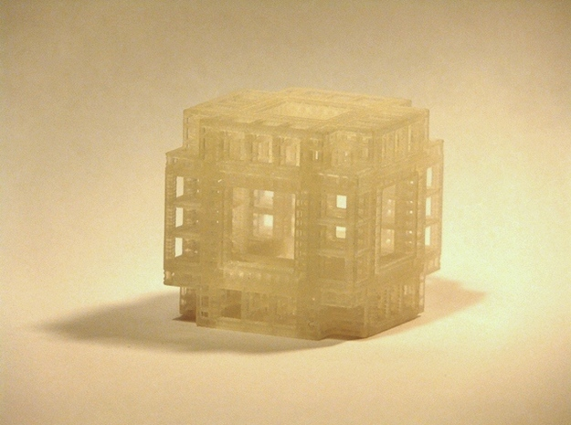 MengerKoch Fractal Cube 3d printed Frosted Detail