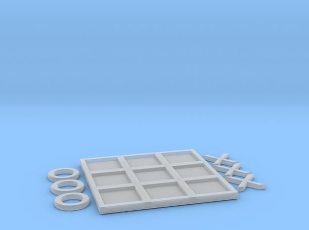 Tic-Tac-Toe in White Natural Versatile Plastic