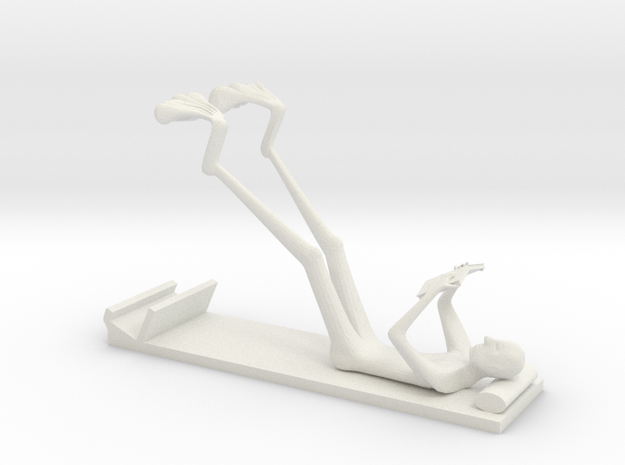 The Reading Man Iphone 6 stand in White Natural Versatile Plastic