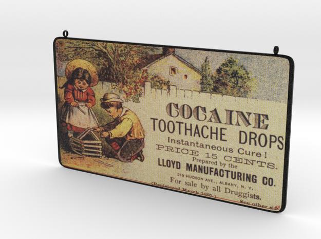Toothache Vintage Advertisement in White Natural Versatile Plastic