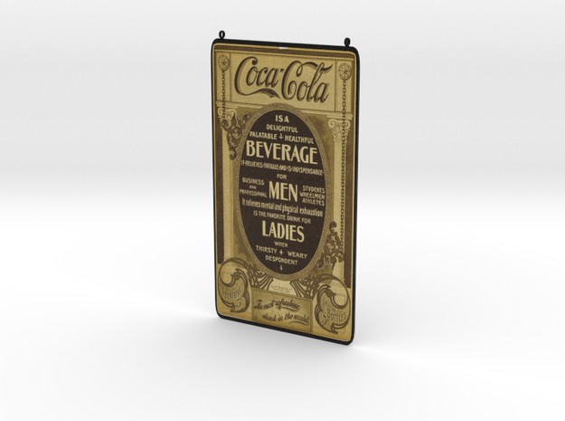 Coca Cola Vintage Ad in Full Color Sandstone
