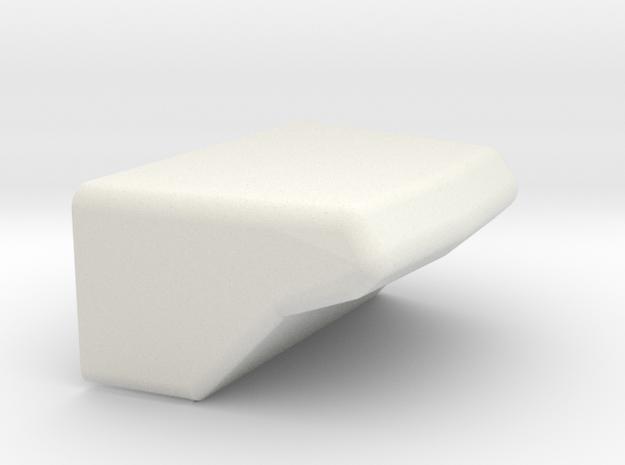 1/16 M50/51 Turret Bustle in White Natural Versatile Plastic