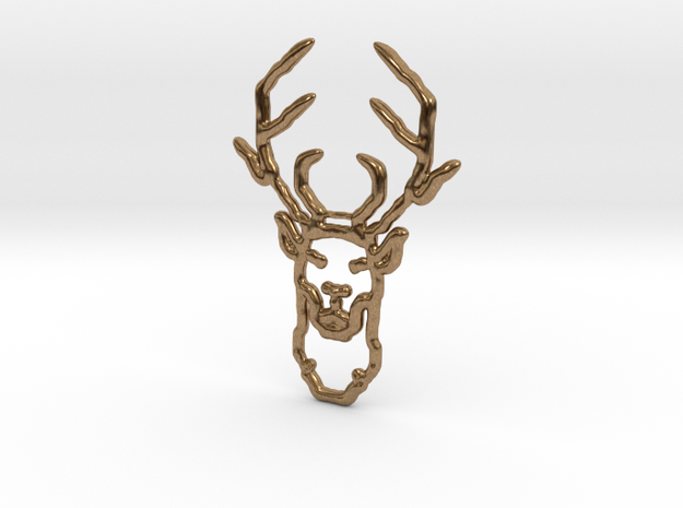 Deer In Wire in Natural Brass