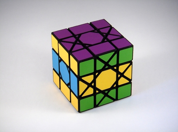 OctoCube Puzzle 3d printed Two 90 Degree Turns