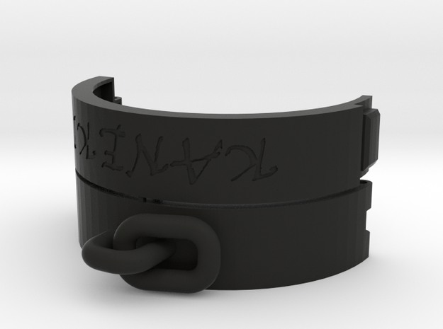 Handcuff bracelet customizable in Black Strong & Flexible