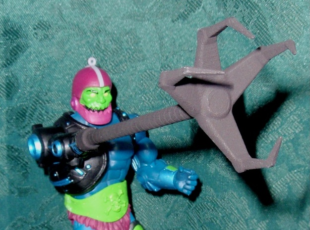 Trap Jaw's Grabber V2 3d printed Black Strong & Flexible Unpainted