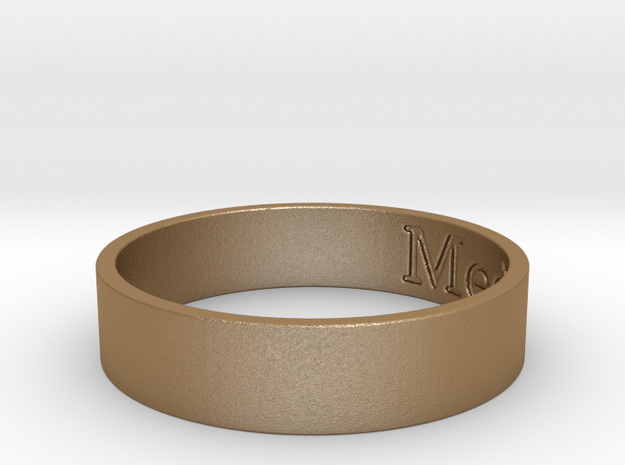 MediaBOX Ring in Matte Gold Steel