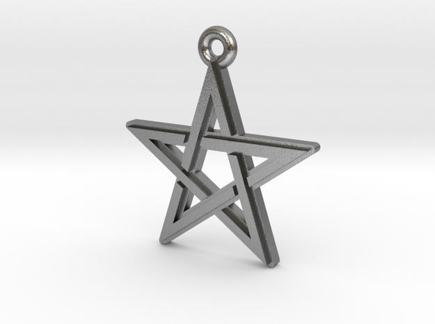 """Pentagram 2.0"" Pendant, Cast Metal in Natural Silver"