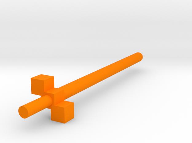 robot sword 3 cube hilt in Orange Strong & Flexible Polished