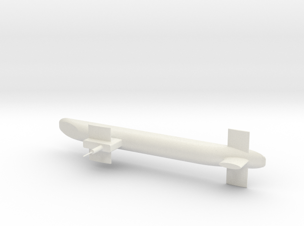 Trident Submarine in White Strong & Flexible
