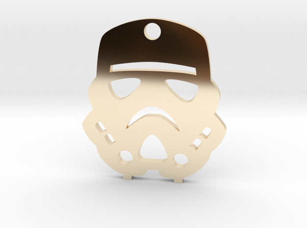 Imperial Stormtrooper Pendant in 14K Yellow Gold