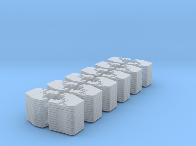 1/64 Front Weights 12 (12 Pieces) in Smooth Fine Detail Plastic