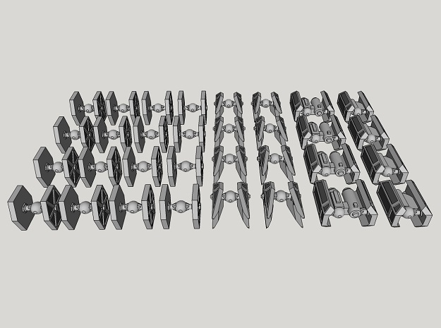 1:1000-scale Imperial Fighter Pack (32 pcs) in Frosted Ultra Detail