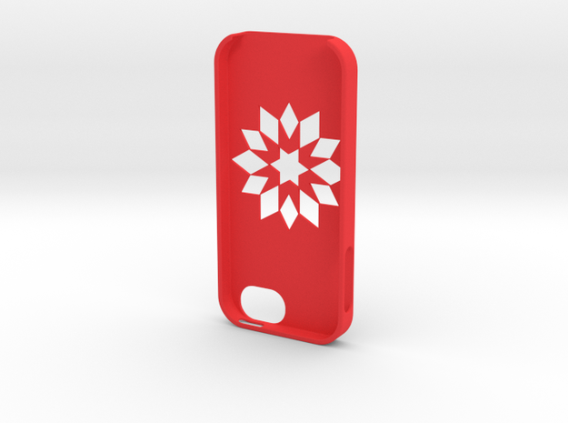Flower Iphone5 Case in Red Processed Versatile Plastic
