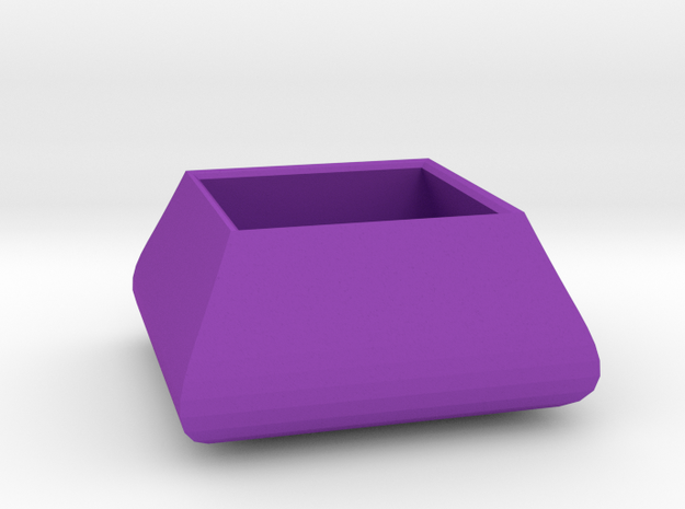 Square bowl in Purple Processed Versatile Plastic