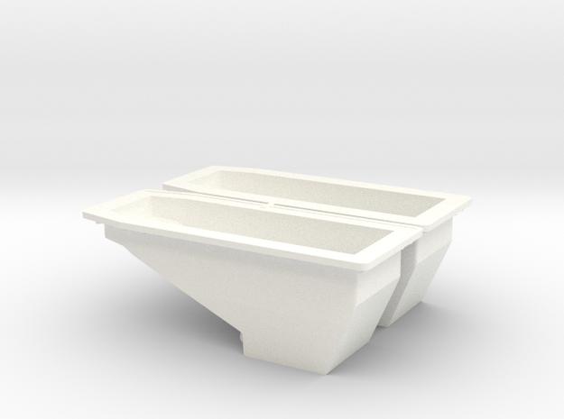 OIL PAN 1 in White Processed Versatile Plastic