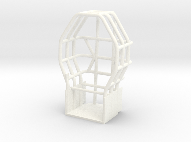 Engler Style Rollcage in White Processed Versatile Plastic