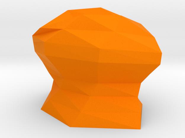 Futuristic vase in Orange Processed Versatile Plastic